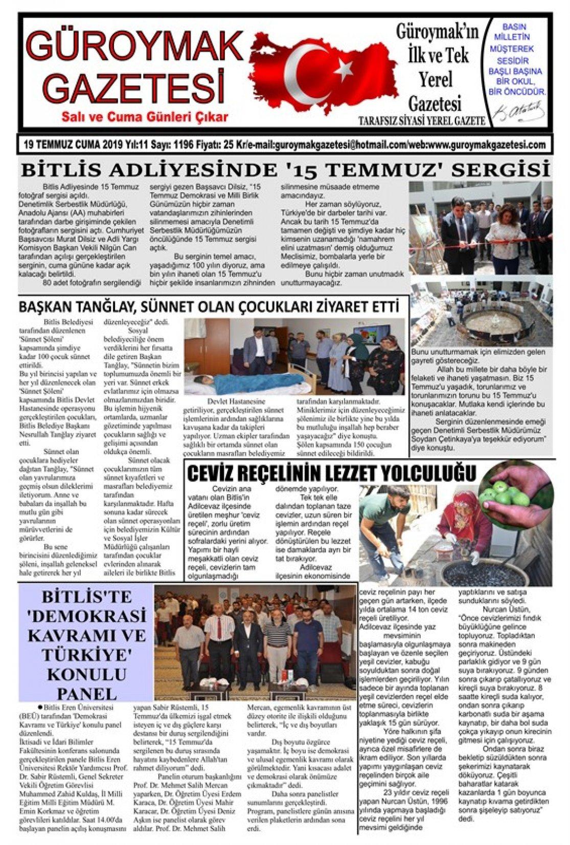 Güroymak Gazetesi 0001_565x800.jpg Sayılı Gazete Küpürü