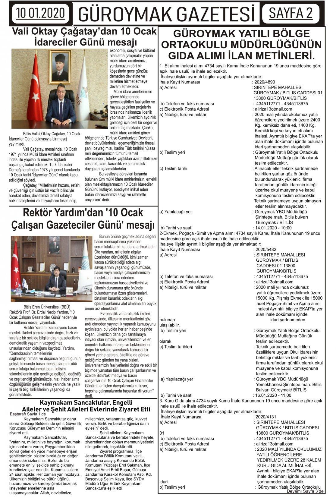 Güroymak Gazetesi 2-1.jpg Sayılı Gazete Küpürü
