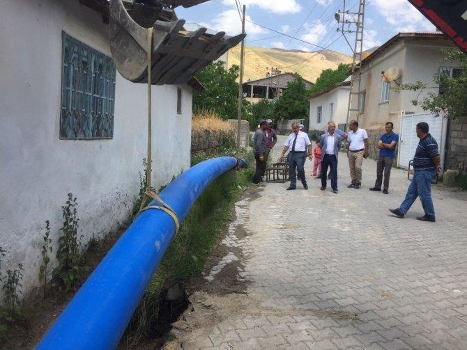 Adilcevaz'da kapalı sistem sulama projesinde ilk adım