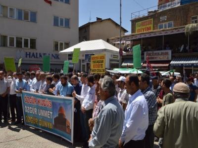 Mescid-i Aksa'nın ibadete kapatılmasına Bitlis'ten tepkiler